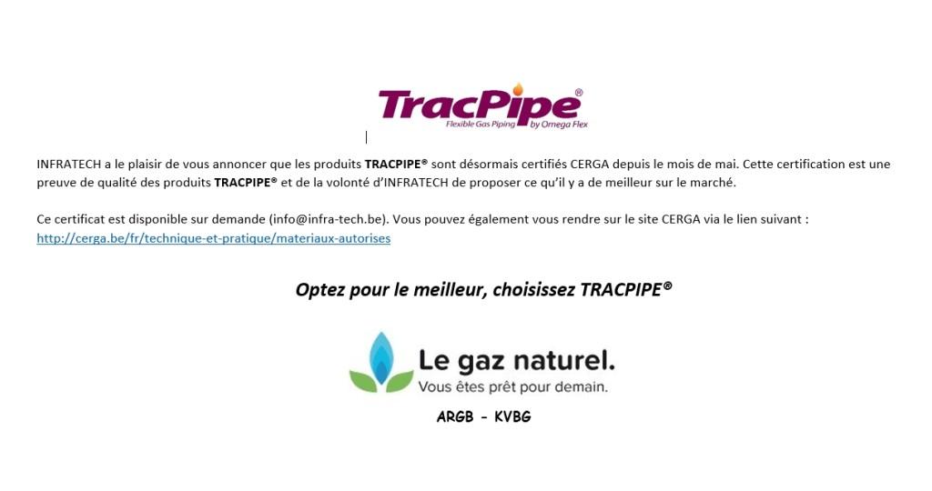 TracPipe - certificat CERGA